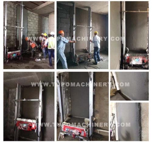 #Product testing# TUPO Automatic Wall Cement Mortar Plastering Machine Without Manual Plastering Automatic Electric Wall Rendering Machine for Sale