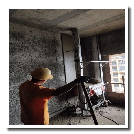 #Product testing# New technology concrete wall plastering machine for sale Professional Small Mortar Cement Wall Plastering Machine for Rendering