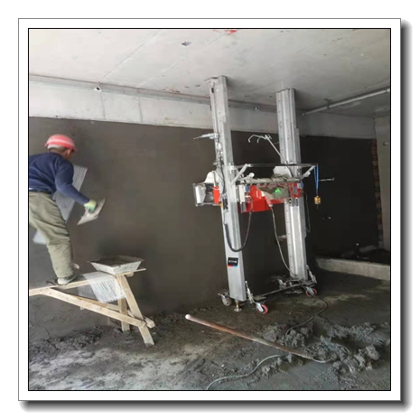 #View production# TUPO 9 Automatic Wall Plastering Machine cement mortar spray machine plastering for wall